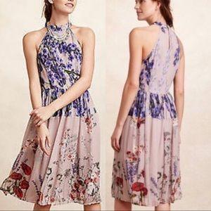 Varun Bahl x Anthropologie Floral High Neck Dress